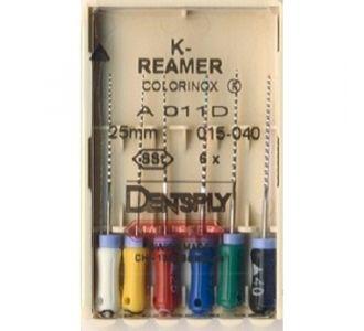 Инструмент ручной Maillefer K-Reamer Colorinox №45 25мм A011D02504500