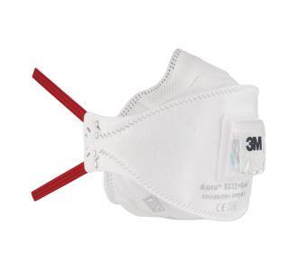 Защитная маска 3M Aura 9332+ Gen3 класс защиты 3 FFP3 NR D, 10 шт. в уп.